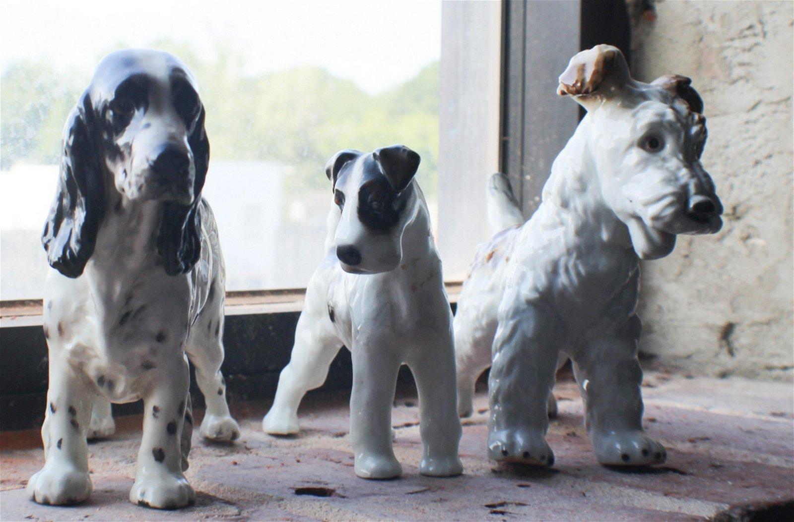 Collection Vintage Figural Porcelain Dogs