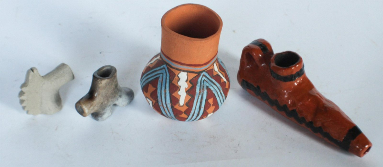 Collection Native American Pamunkey Pottery Pieces