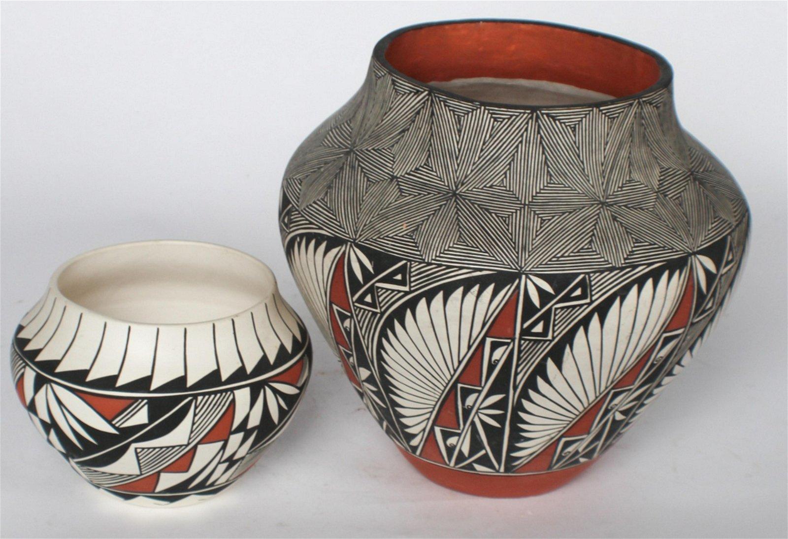 Native American Vintage Pottery Vessel by Acoma