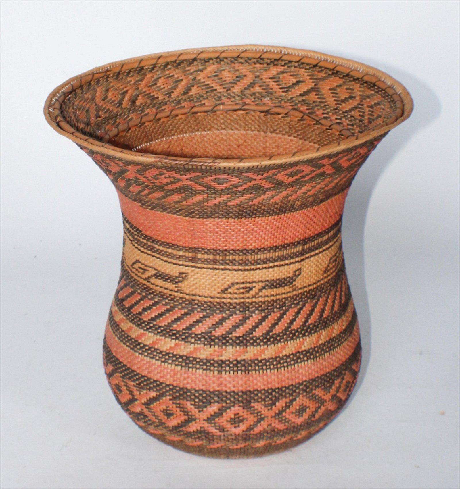 Interesting Woven Grass Basket