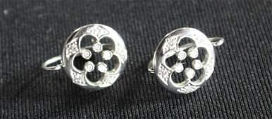 Cathy Waterman Platinum & Diamond Earrings