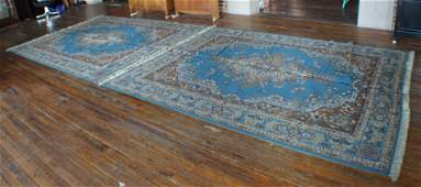Pair Vintage Persian Kashan Carpets