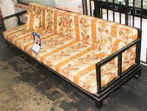 Marvelous Chinese Art Deco Ebony Sofa Matching Easy Chair Inzonedesignstudio Interior Chair Design Inzonedesignstudiocom