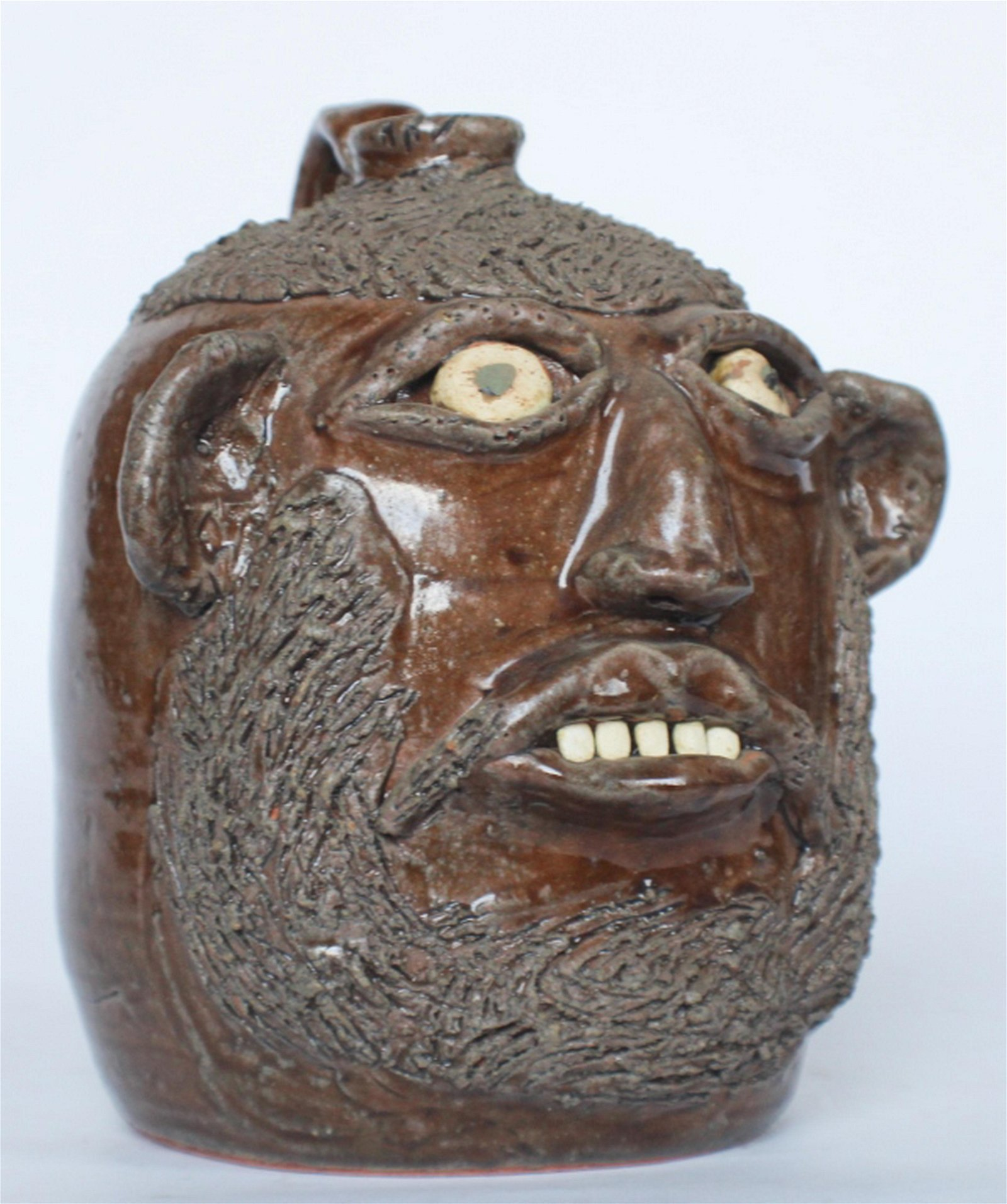 Southern Stoneware Face Jug by Flossie Meaders