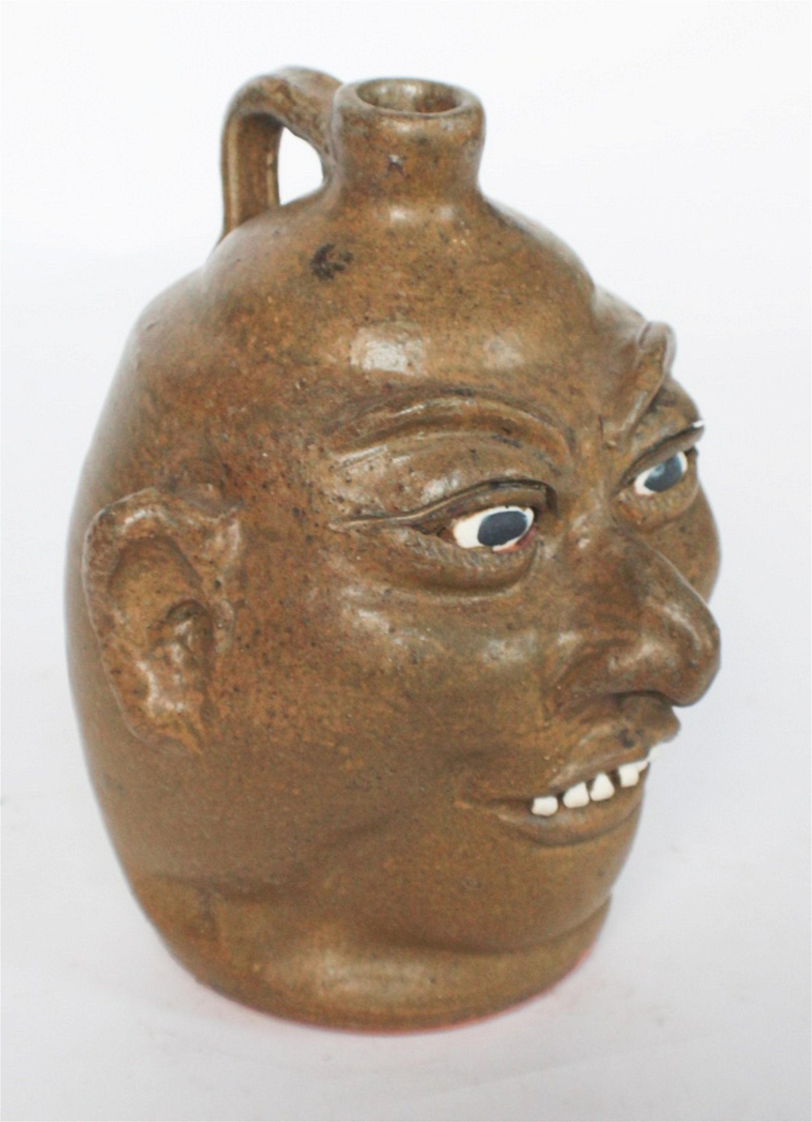 Southern Stoneware Face Jug by Lanier Meaders