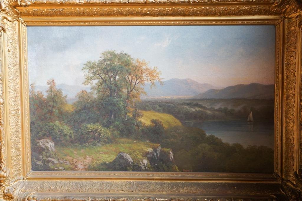 Hudson River School Oil on Canvas 19th Century