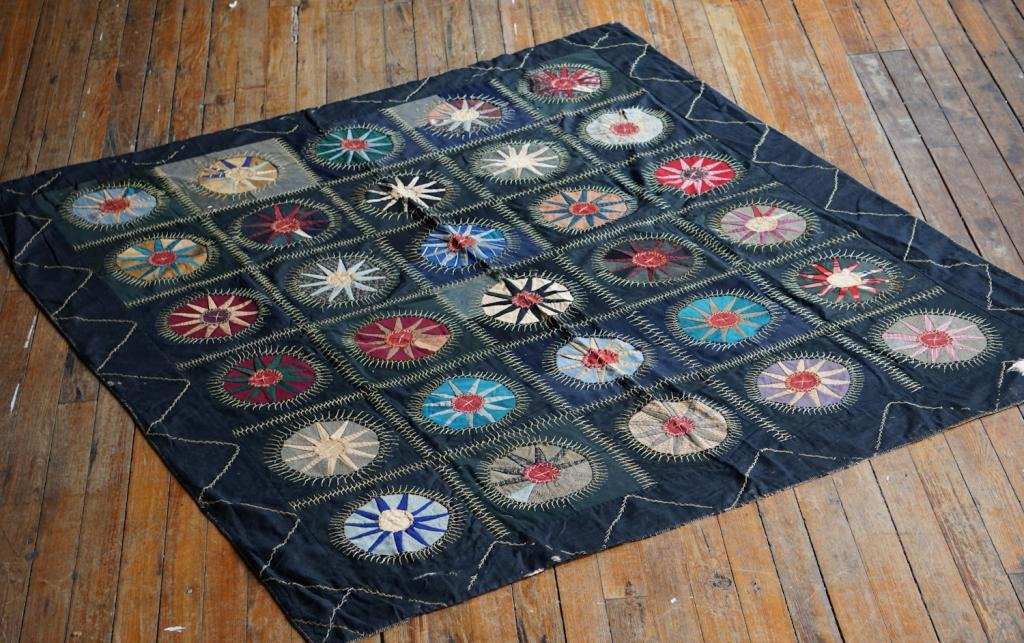 Antique Likely African American Folk Art Quilt