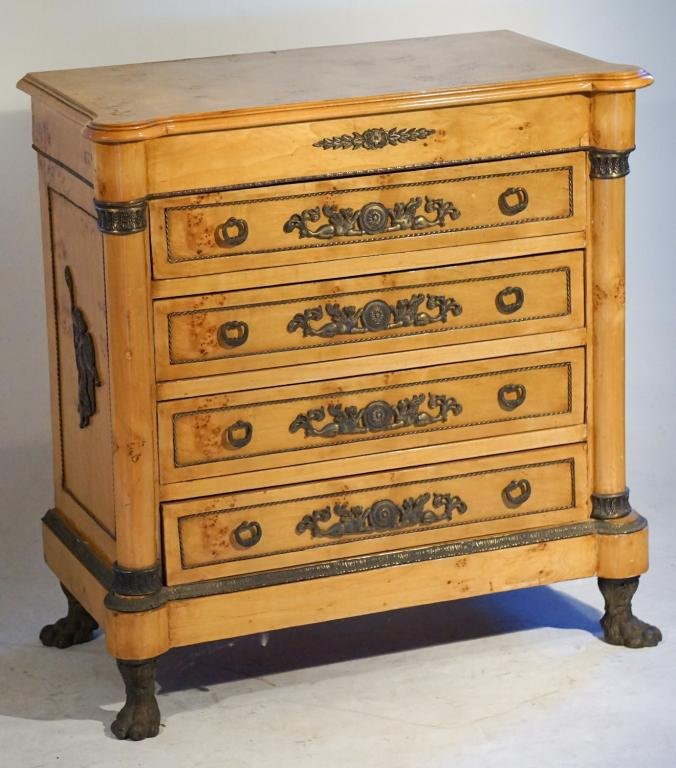 Continental French Empire Style Chest of Drawers