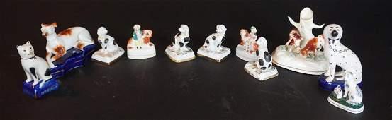 Antique  Vintage Staffordshire Miniature Pieces