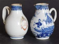 Two Antique Chinese Porcelain Cream Pitchers