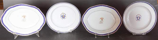 Two Pair Chinese Antique Export Porcelain Dishes
