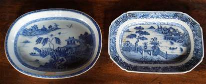 Two Antique Chinese Export Porcelain Platters