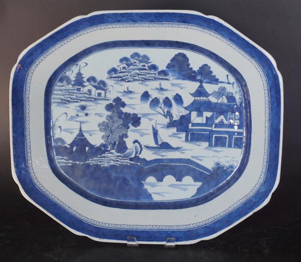 Chinese Export Porcelain Canton Serving Platter