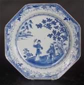 Vintage Japanese Blue & White Porcelain Charger