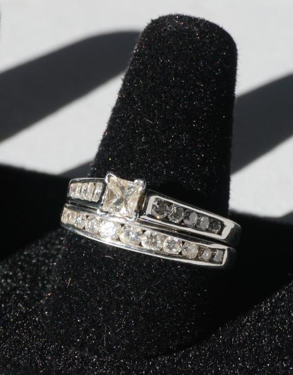 Ladies Platinum & Diamond Wedding Set