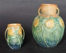 Roseville Arts and Crafts Period Sunflower Vases