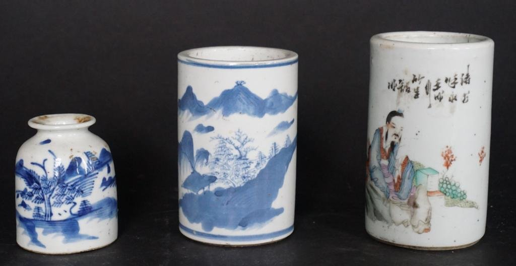 Group Antique Chinese Porcelain Vessels
