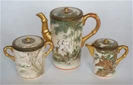 Fine Antique Japanese Satsuma Porcelain Tea Service