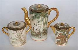 Antique Japanese Satsuma Porcelain Tea Service