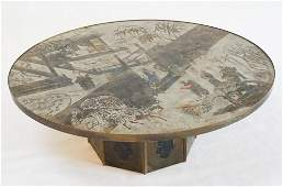 Rare Philip & Kelvin Laverne Circular Coffee Table