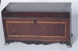 Southern Federal Inlaid Walnut Valuables Box
