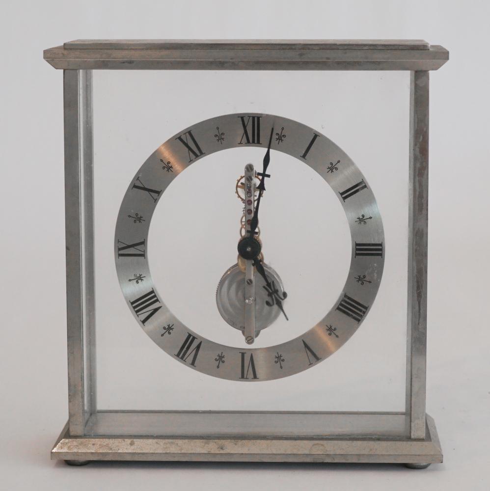 Handsome Swiss Inline Movement Desk Clock