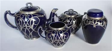 Quality Lenox Silver Over Porcelain Tea Service
