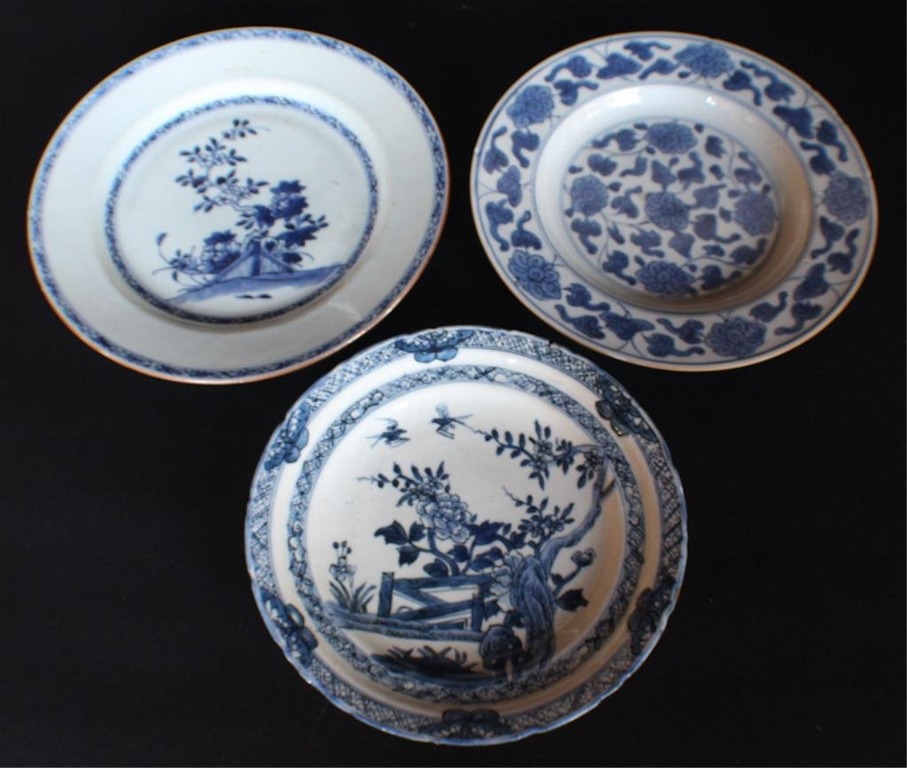 Collection Three Antique Chinese Export Dishes