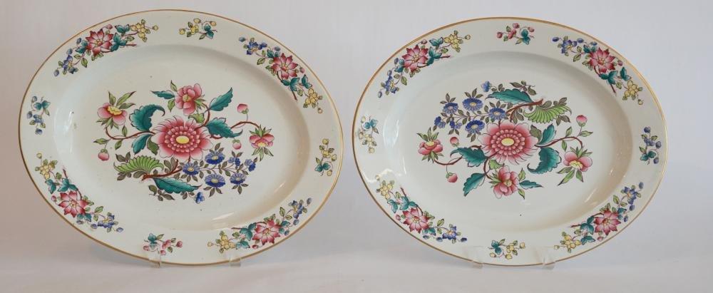 Pair Royal Worcester Porcelain Serving Platters