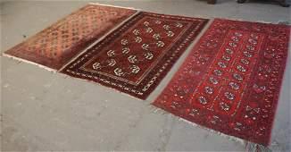 Three Vintage Persian Bokhara Carpets