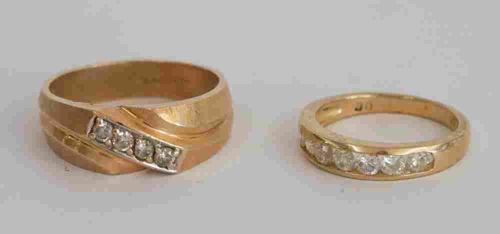 Ladies & Mens 14k Gold & Diamond Rings