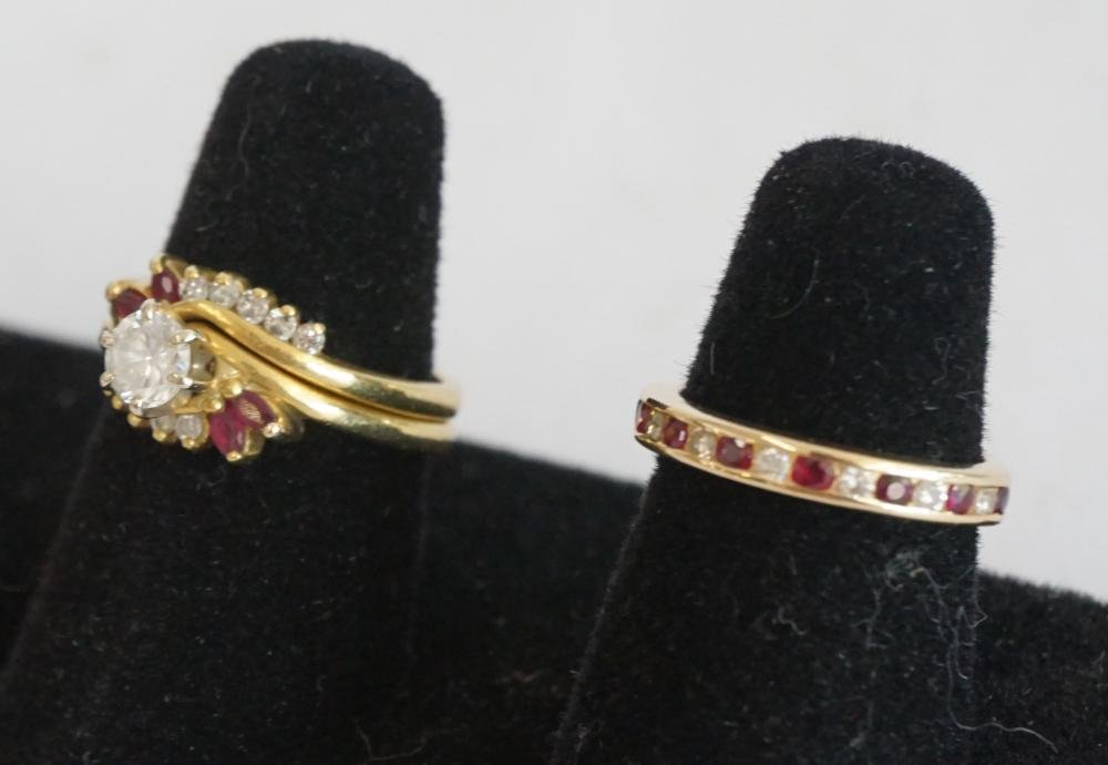 Ladies Diamond & Ruby Ring Suite