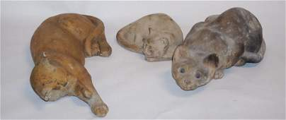 Collection French Cast Stone Figural Lifesize Cats