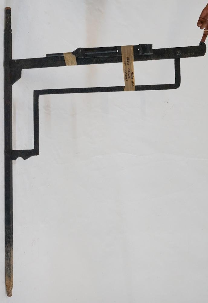 Antique Wrought Iron Large Trade Sign Wall Bracket