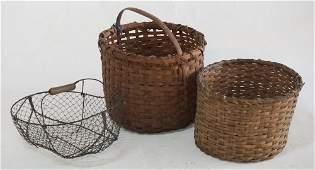 Group Antique Gathering Baskets