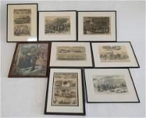 Collection Antique Framed Historical Prints