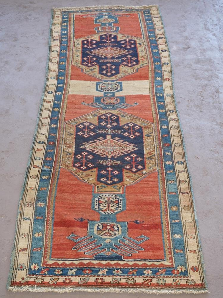 Vintage Persian Tribal Runner Carpet