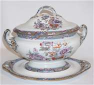 Antique Large English Davenport Porcelain Tureen