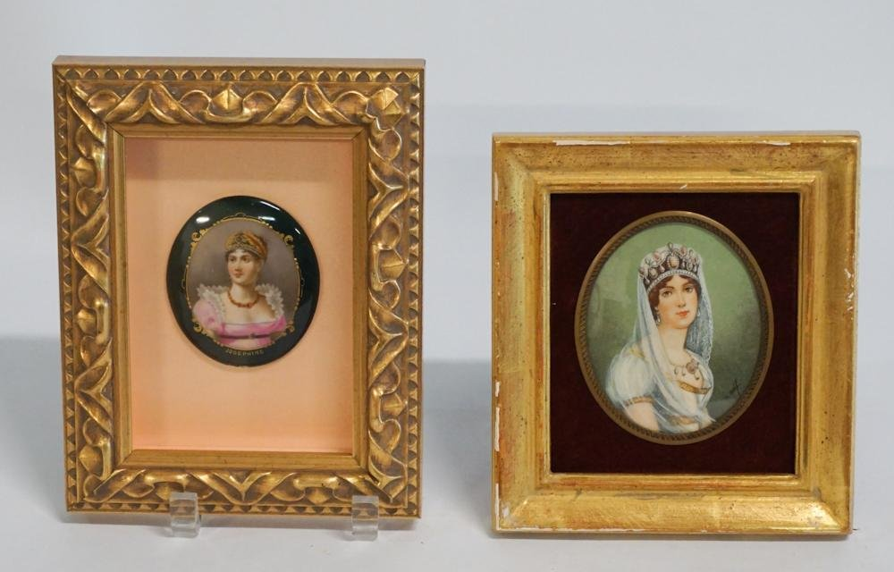 Two Quality Antique Framed Portrait Miniatures