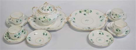 Antique English Davenport Porcelain Tea Set