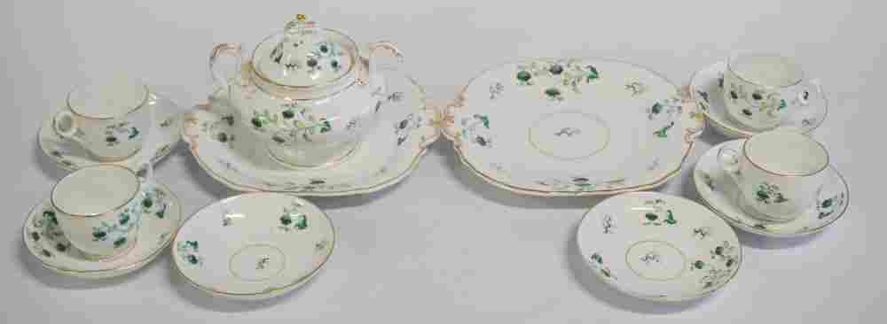 Antique English Davenport Porcelain Tea Set