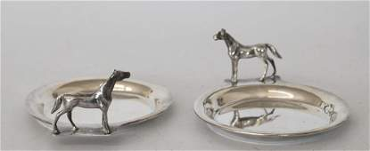 Pair Uhall  Ballou Sterling Silver Sporting Piece