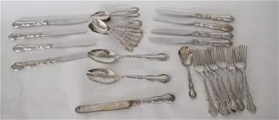 Handsome Set Gorham Sterling Silver Flatware