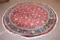 Uncommon Vintage Circular Persian Kashan Carpet