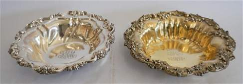 Two Black Starr & Frost Sterling Center Bowls