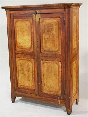 Excellent Virginia Painted Yellow Pine Cupboard