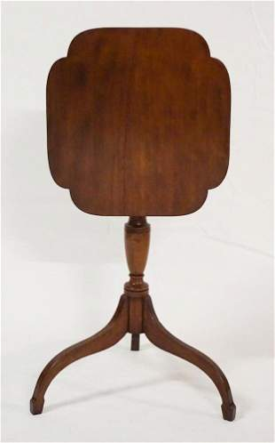 American Federal Cherry Wood Tilt Top Candle Stand