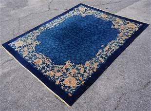 Antique Chinese Peking Deco Carpet