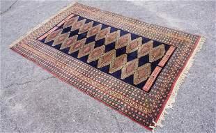 Colorful Vintage Persian Bokhara Carpet