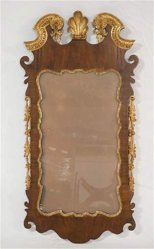 Chippendale Style Carved Giltwood Mirror Frame